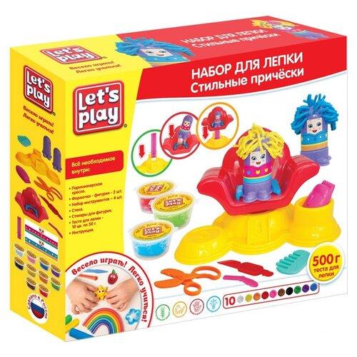 Масса для лепки РОСМЭН Let's Play Стильные прически 10 цветов по 50 г (35740) масса для лепки росмэн свинка пеппа 10 цветов по 60г 33518