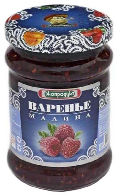 Варенье Экопродукт малина, банка 325 г