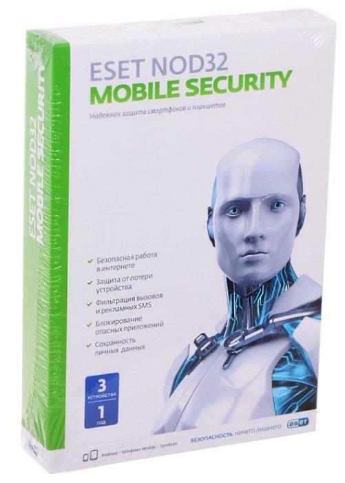 ESET NOD32 Mobile Security (3 устройства, 1 год) коробочная версия