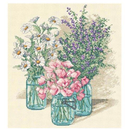 Купить Dimensions Набор для вышивания крестиком Трио полевых цветов 28 х 30 см (35122), Наборы для вышивания