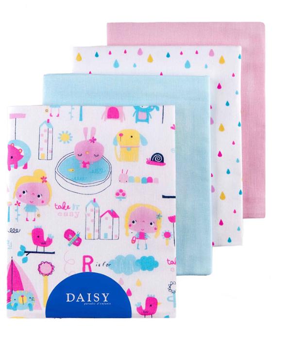 Многоразовые пеленки Daisy перкаль 90х145 комплект 4 шт