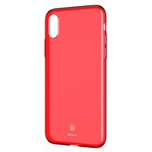 цена на Чехол Baseus Simple Series Case для Apple iPhone X transparent red