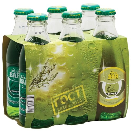 Газированный напиток Star Bar Тархун, 0.175 л, 6 шт.Лимонады и газированные напитки<br>