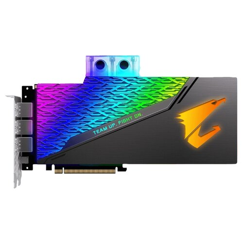 Купить Видеокарта GIGABYTE AORUS GeForce RTX 2080 Ti 1770MHz PCI-E 3.0 11264MB 14140MHz 352 bit 3xHDMI 3xDisplayPort HDCP XTREME WATERFORCE WB Retail