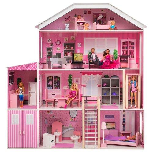 Купить PAREMO Интерактивное поместье Розабелла (с мебелью, свет, звук) PD318-20, розовый/белый, Кукольные домики