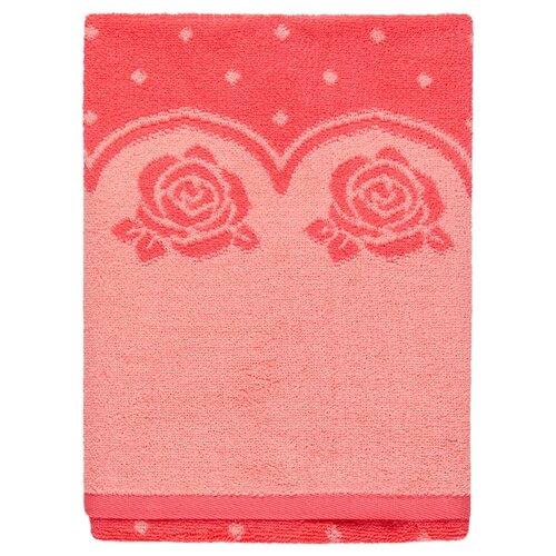Aquarelle Полотенце Розы с точечками банное 70х140 см розово-персиковый/коралл