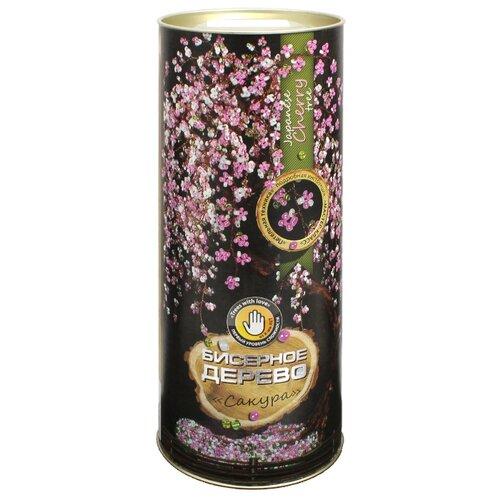 Купить Danko Toys Набор для бисероплетения Бисерное дерево. Сакура БД-02 розовый/белый, Бисер и бисероплетение