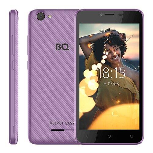 Смартфон BQ 5000G Velvet Easy фиолетовый смартфон