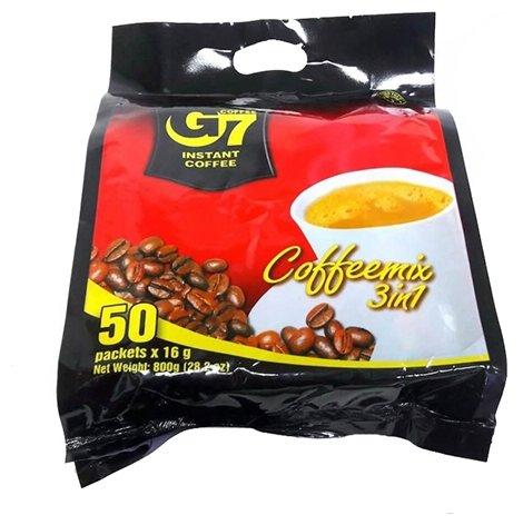 Купить Растворимый кофе Trung Nguyen G7 3 в 1, в пакетиках (50 шт.) по низкой цене с доставкой из Яндекс.Маркета