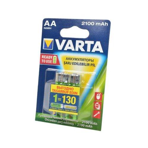 Аккумулятор Ni-Mh 2100 мА·ч VARTA Recharge Accu Power 2100 AA 2 шт блистерБатарейки и аккумуляторы<br>