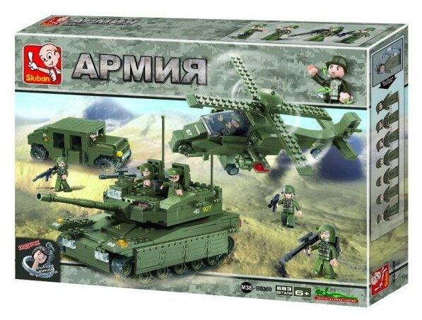 Конструктор SLUBAN Сухопутные войска 2 M38-B0309 AMPHIBIOUS ONRUSH