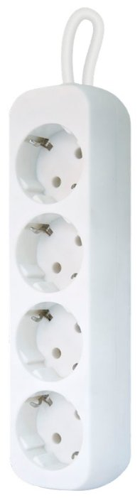 Удлинитель сетевой Defender E418 99225 белый 1.8 м, 4 розетки