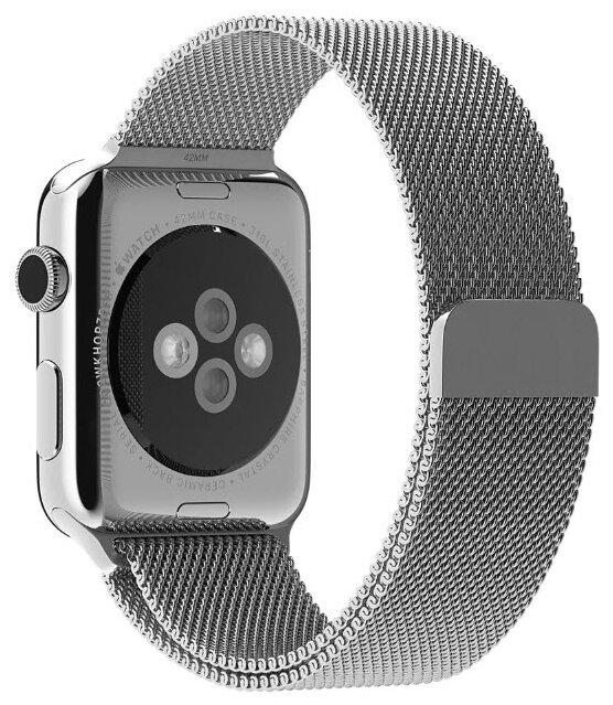 Karmaso Ремешок для Apple Watch 38 мм миланская петля серебристый
