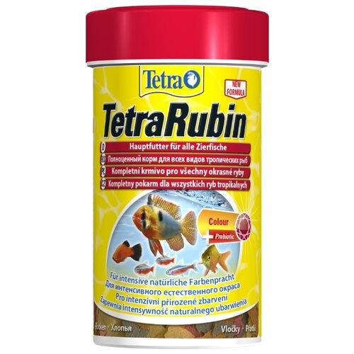 Сухой корм для рыб Tetra TetraRubin Flakes 100 мл sera sera fd mixpur корм для рыб сублимированный мотыль трубочник дафния криль 100 мл