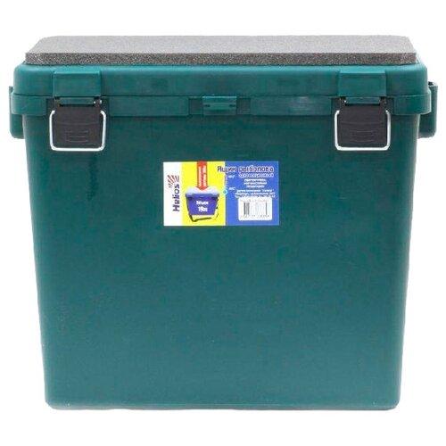 Ящик для рыбалки HELIOS М односекционный 39х25.7х32см зеленый