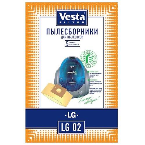 Vesta filter Бумажные пылесборники LG 02 5 шт. пылесборники vesta filter lg 02 5пылесбор