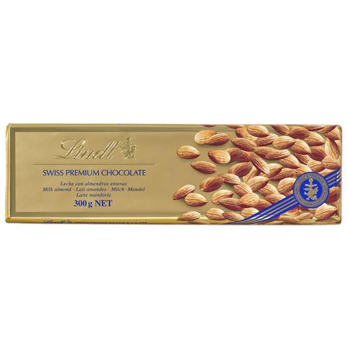 Шоколад Lindt Swiss Premium молочный с миндалем, 31% какао, 300 г