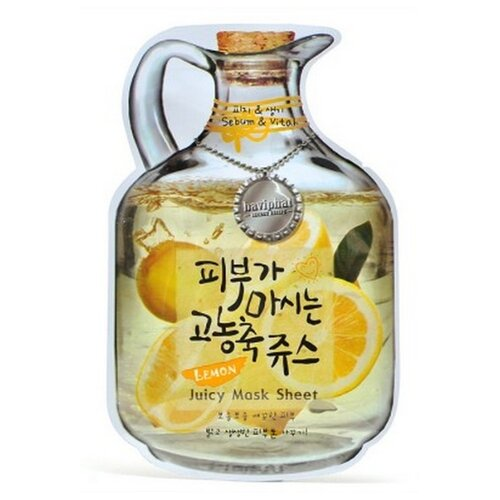 Urban Dollkiss тканевая фруктовая маска Lemon Juicy Mask Sheet Sebum & Vital, 23 гМаски<br>