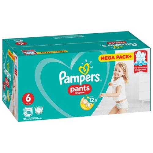 Купить Pampers трусики Pants 6 (15+ кг) 88 шт., Подгузники