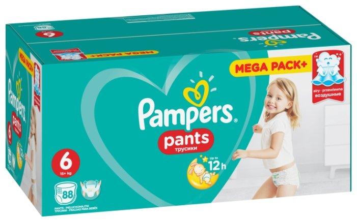 Pampers трусики Pants 6 (15+ кг) 88 шт.