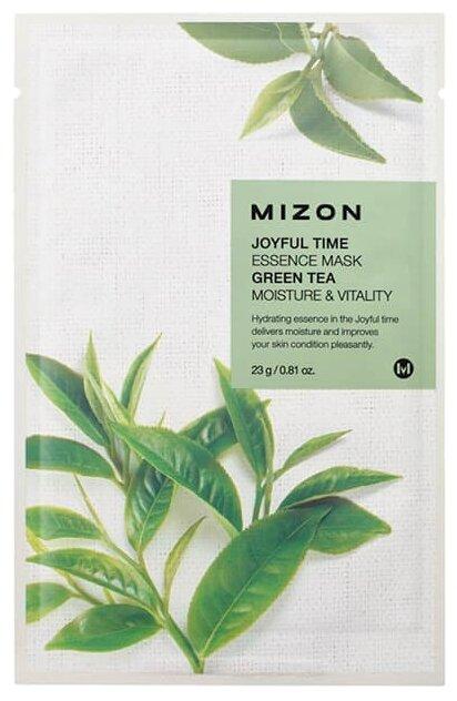 Mizon Joyful Time Essence Mask Green Tea тканевая маска с экстрактом зеленого чая