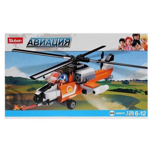 Конструктор SLUBAN Авиация M38-B0667D Вертолет sluban 38 0103мв