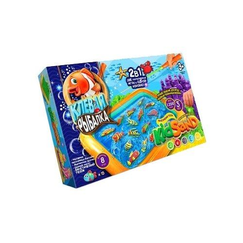 Кинетический песок Danko Toys 2 в 1 Клевая рыбалка и кинетический песок