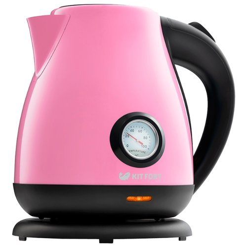 Чайник Kitfort KT-642-1, розовый чайник kitfort kt 642 1 розовый