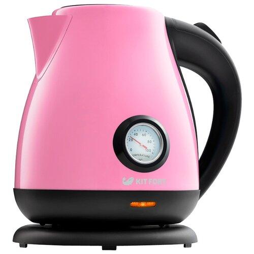 Фото - Чайник Kitfort KT-642-1, розовый чайник kitfort kt 642 1 розовый 2200 вт 1 7 л