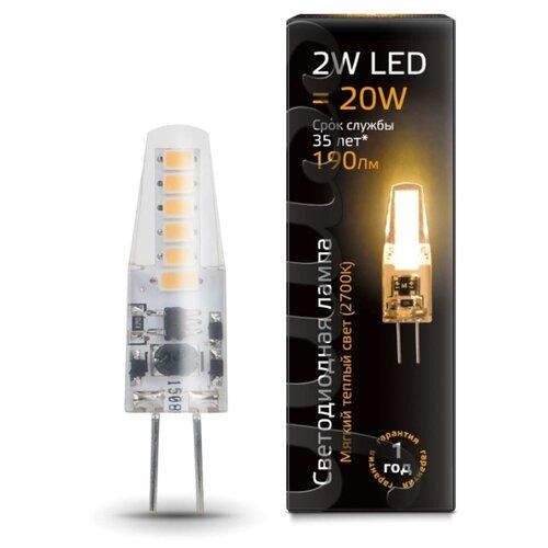 Лампа светодиодная gauss 107707102, G4, JC, 2Вт лампа светодиодная gauss 207707203 g4 jc 3вт