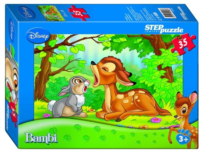 Пазл Step puzzle Disney Бемби с зайчонком (91108), 35 дет.