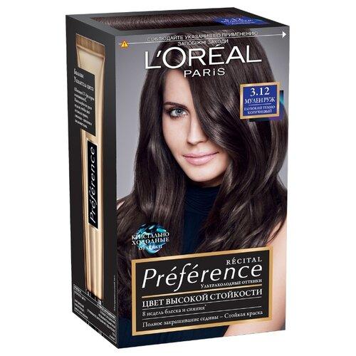 LOreal Paris Preference Recital стойкая краска для волос, 3.12, Мулен Руж