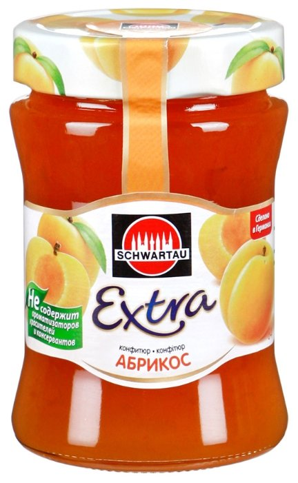 Конфитюр Schwartau Extra абрикос, банка 340 г