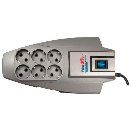 Сетевой фильтр Pilot XPro, серый, 3 мУдлинители и сетевые фильтры<br>