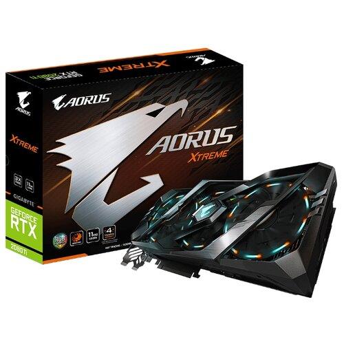 Купить Видеокарта GIGABYTE AORUS GeForce RTX 2080 Ti 1770MHz PCI-E 3.0 11264MB 14140MHz 352 bit 3xHDMI 3xDisplayPort HDCP XTREME Retail