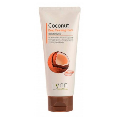 Welcos пенка очищающая кокосовая Natural Therapy Lynn Coconut, 120 гОчищение и снятие макияжа<br>