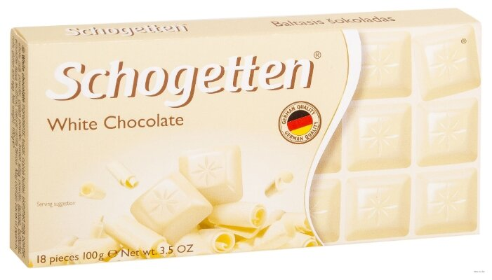Шоколад Schogetten White белый порционный, 100 г