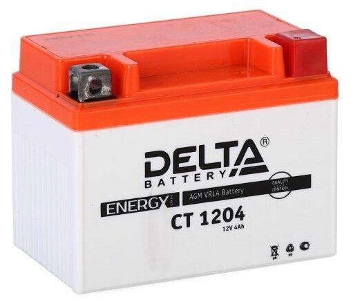 Аккумулятор для мототехники DELTA CT 1204 50А обратная полярность 4 Ач (113x70x89)