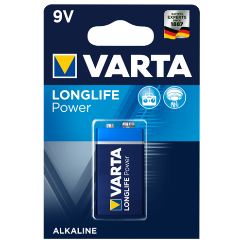 Фото - Батарейка VARTA LONGLIFE Power 9V Крона 1 шт блистер батарейка varta longlife c блистер 2шт