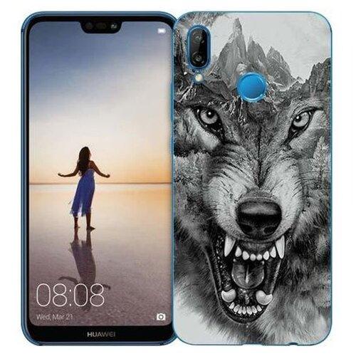 Чехол Gosso 710336 для Huawei P20 Lite волк в горах чехол для сотового телефона gosso cases для huawei p20 lite soft touch 186905 темно синий