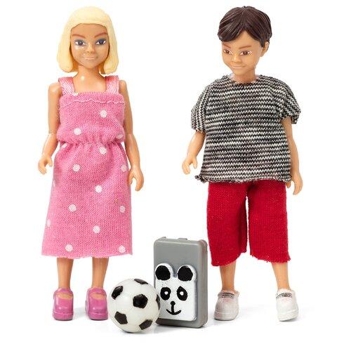 Фото - Куклы для домика Lundby Школьники, 60807100 мебель для куклы lundby книжная полка