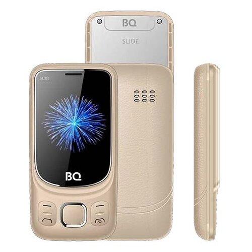 Телефон BQ 2435 Slide золотой сотовый телефон bq 2435 slide black