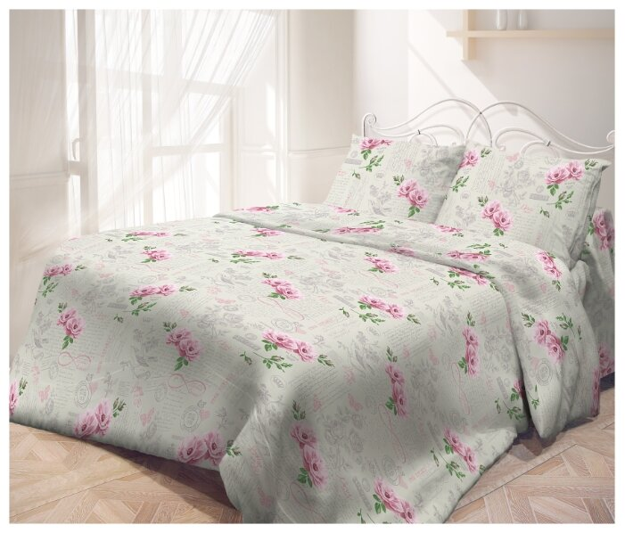 Постельное белье семейное Самойловский текстиль Влюбленность 50 х 70 см бязь