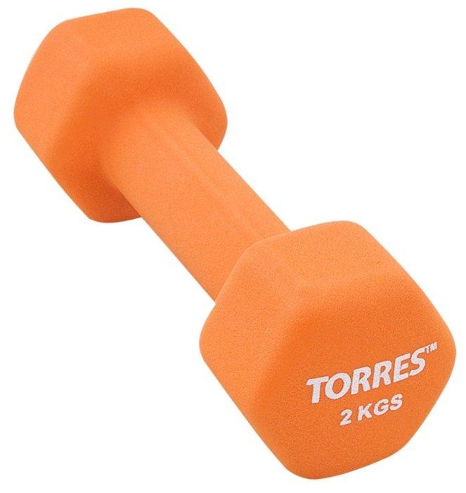 Гантель цельнолитая TORRES PL55012 2