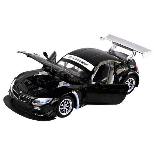Купить Легковой автомобиль Автопанорама BMW Z4 GT3 (JB1200122/JB1200123) 1:24 18 см черный, Машинки и техника
