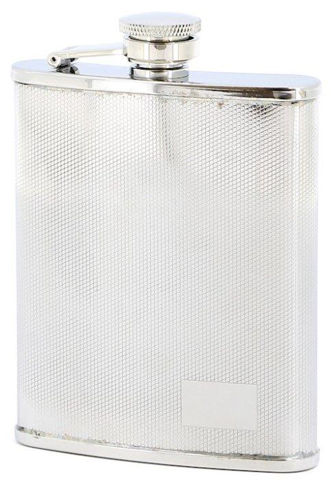 Фляга S.Quire 0.18 литра, сталь, серебристая - S.QUIRE
