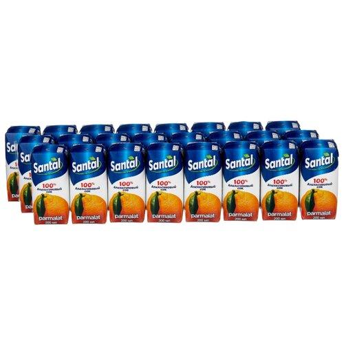 Сок Santal Апельсин, без сахара, 0.2 л, 24 шт. сок santal апельсин без сахара 0 2 л 24 шт