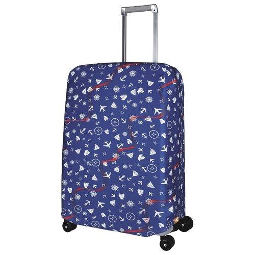 Чехол для чемодана ROUTEMARK Traveler SP240 M/L, синий чехол для чемодана routemark inmotion размер m l 65 74 см