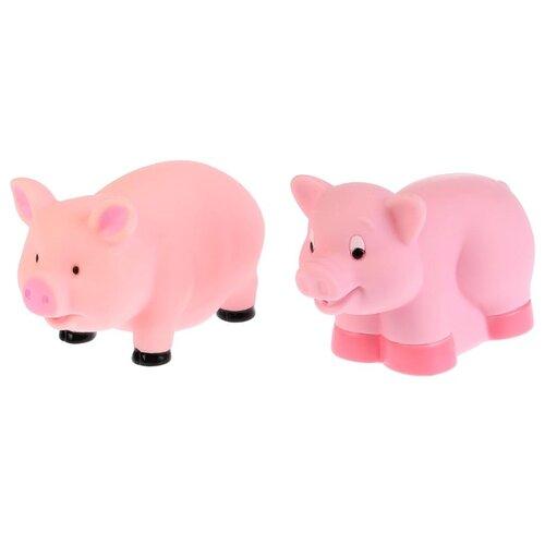 Купить Набор для ванной Играем вместе Свинки (LXB104-410) розовый, Игрушки для ванной