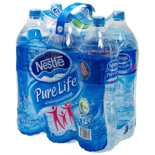 Артезианская вода Nestle Pure Life негазированная ПЭТ, 6 шт. по 2 лВода<br>